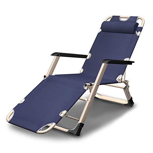 Schwarz Metall-futon-rahmen (Klappbett Chaiselongue Faltbar Lunch Pause Büro Siesta Stuhl Strandstuhl Freizeit Stuhl Schwangere Frau Rückenlehne Stuhl a)