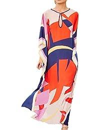 92870f2b69a L-Peach Women's Summer Fashion Sexy Bohemia Long Kaftan Bikini Cover up  Beach Dress Sarong
