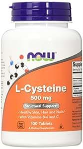 Now Foods, L-cystéine, 500 mg, 100 comprimés