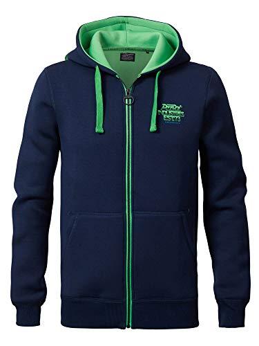 Petrol Industries Sweatjacke blau-grün