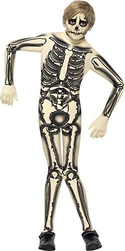 en Second Skin Skelett Kostüm, Bedruckter Jumpsuit, Größe: L, 43026 (Skelett Jumpsuit Kostüm)