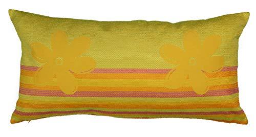 e Kissenbezug Deko Kissen Sofakissen Schwere Qualität Modernes Design Geschenk Idee ca. 35 x 70 cm grün-gelb ()