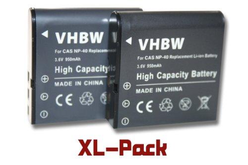 Vhbw 2x ioni di litio batteria 950mah (3.6v) per fotocamera digitale dslr kodak pixpro az361, az362, az521, pentax xg-1 sostituisce lb-060