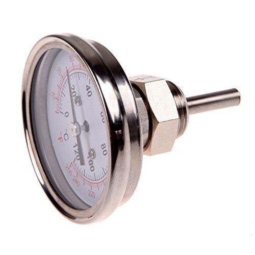 Thermomètre en acier inoxydable de 1/2'pour condenseur ou...