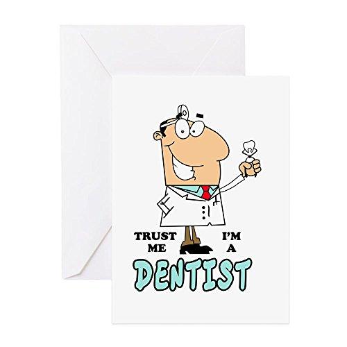 CafePress-Trust Me Im eine Zahnarzt Grußkarte-Grußkarte, Note Karte mit Innen blanko,, Geburtstag Karte oder besonderen Anlass Note Card merhfarbig