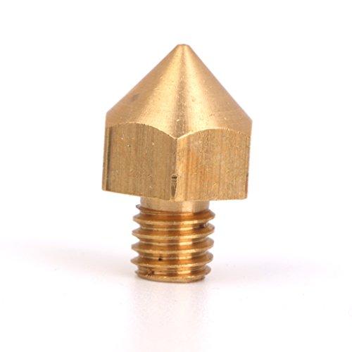 0.2mm Cuivre Buse Tete D'impression Pour Le Filament De 3mm 3d Imprimante Extrudeuse d'Or