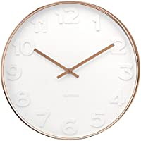 Karlsson KA5588 Mr.White Numbers Wall Clock with Copper Case