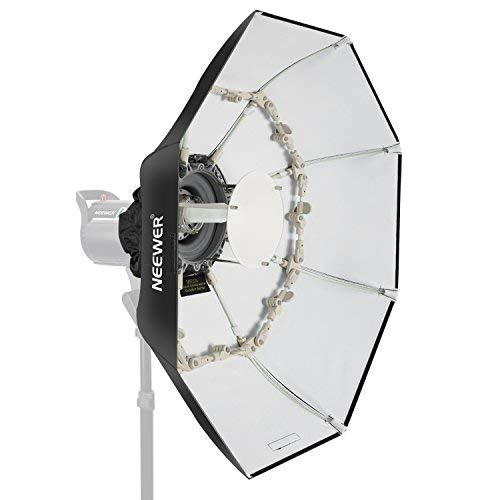 Neewer Beauty Dish Faltbare Softbox Ottagonale mit Reflektorscheibe, Frontdiffusor abnehmbar Bowens für Monoluci Flash Porträts Studio