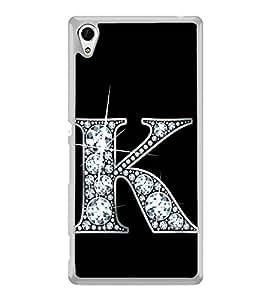 Alphabet K 2D Hard Polycarbonate Designer Back Case Cover for Sony Xperia Z4