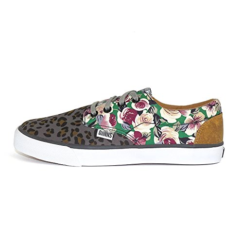 Djinns Schuhe WOMENS NICE CRAZY PATTERN leo roses, US 6 EU 36 UK 3.5