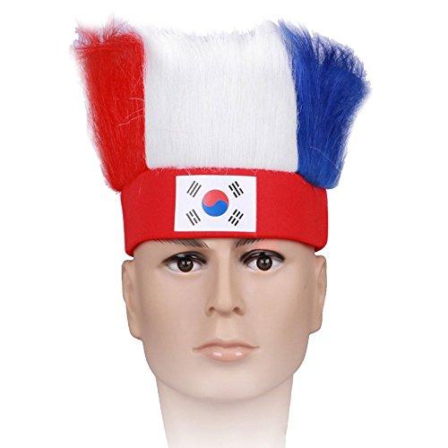 Bolange Fans verkleideten sich als Fußballfans mit dem Perückehaar Art und Weise Polyester 2018 kennzeichnen Rollenspielfußballhobby - Südkorea