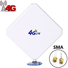 SMA 4G LTE Antenna Connector Dual Mimo Outdoor Signal Booster Amplifier Receiver 35dbi High Gain Long Range Network Ethernet for Wifi Router Mobile Broadband