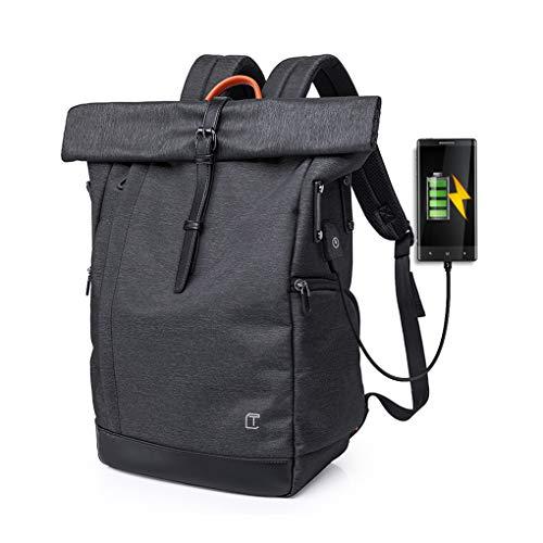 Cornasee Laptop Rucksack Damen Herren, Großer Roll Top Rucksack mit USB fur 15.6 Zoll Notebook, Diebstahlsicherung Tasche Wasserdicht Dayp...