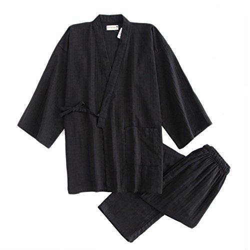 Fancy Pumpkin Set di meditazioni da uomo stile giapponese con pigiama kimono