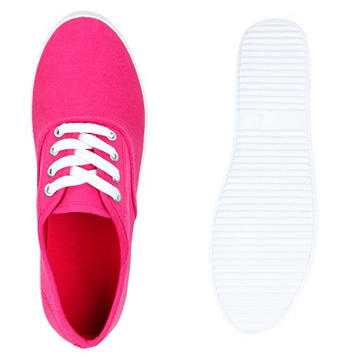 Stiefelparadies - Scarpe da Ginnastica Basse Donna Rosa (rosa)