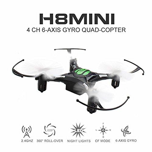 Nano dron cuadricóptero Mini UFO EACHINE H8 Mini 2,4G de 4 canales, 6 ejes con modo sin cabeza, teledirigido, RTF modo 2 (negro)