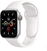 Compatible with Apple Watch Band 38mm 40mm 42mm 44mm,Soft Silicone Fitness Replacement Accessories Straps Wris