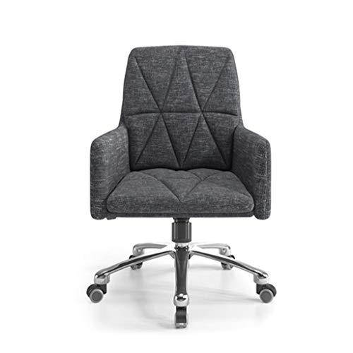 Comif- Fauteuil de Salon Ergonomique, Chaise de Bureau en Lin, Profondeur d'assise de 45 cm/évitant la Compression des nerfs de la Jambe, réglage de la Hauteur (Jaune, Gris)