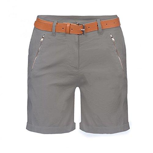Damen Chino Bermuda Shorts, kurze Hose inkl. Gürtel ( 488 ) Braun