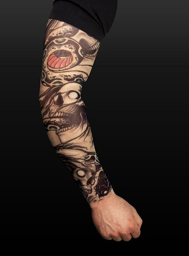 Halloween Karneval Party Kostüm Biker Tattoo Skin Ärmel zum ()