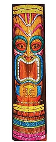 Zauberclown - Party Dekoration Hawaii Tiki Aloha Motto 152 cm Banner Hula Folie, Mehrfarbig