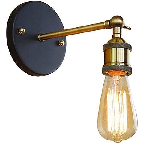 Stile Mini / Lampadina inclusa Lampade a candela da parete,Rustico/lodge E26/E27 Metallo , 220v-YU&XIN - Ottone 3 Pollici Casa Numero