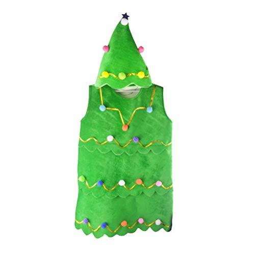 NUOBESTY Disfraz De árbol De Navidad Franela Vestido
