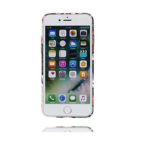 iPhone 6s Plus Custodia, iPhone 6 Plus Copertura 5.5, [ Peso leggero ultra & sottile Silicone Gel Soft Gel ] Cartoon iPhone 6S Plus Case [ ciliegia Fiore ], antiurto e ring supporto (Libero) Color 6
