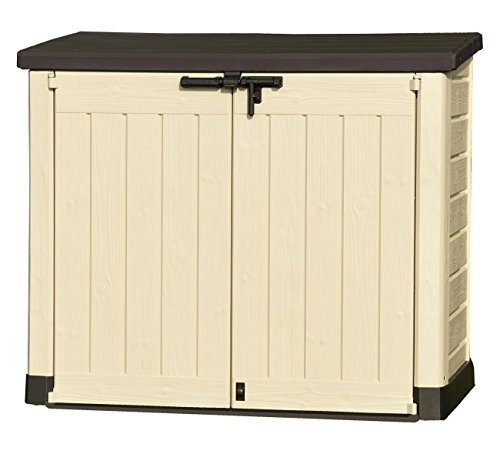 Image of Keter Store It Out Max Outdoor Plastic Garden Storage Shed, 145.5 x 82 x 125 cm - Beige/Brown