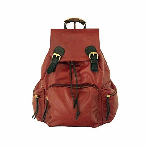 Premium Berry Large Rucksack Handtaschen, Leather, Maroon (Damen Maroon Handtasche)