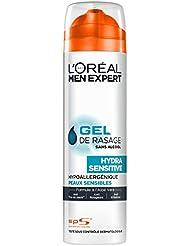 L'Oréal Men Expert Gel de Rasage Peaux Sensibles Sans Alcool Aloe Vera - Lot de 3