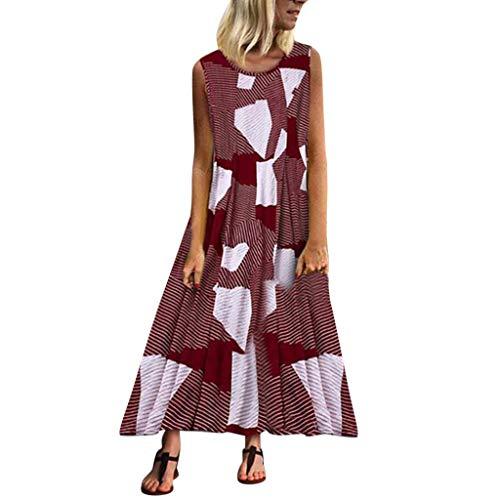 Plus Size Superhero Kleid - WEISUN Weissun Damen Sommerkleid Casual Geometrie