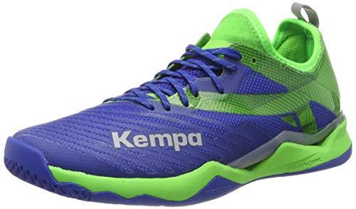 Kempa Herren Wing Lite 2.0 Handballschuhe, Blau (Azur/Vert Printemps 01), 50 EU