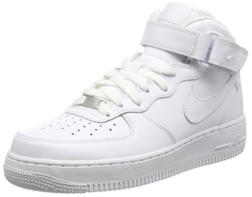 half off 0dcd9 658f7 Nike Air Force 1 Mid  07 Leather, Women Basketball, White (White White), 8  UK (42.5 EU) - Buy Online in Oman.   Shoes Products in Oman - See Prices,  ...