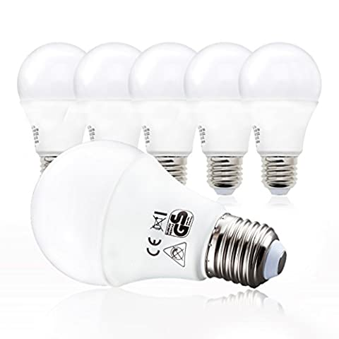 LED Glühbirne   Ersetzt 60w   5er Set E27   A60 Leuchtmittel   9 Watt   806 Lumen   2700 Kelvin
