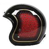 Uomini Classic 3/4 Open Face Helmet Cruiser Bike Stile Jet Helmet Per Adulti e...