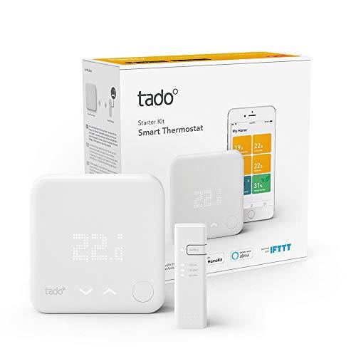 tado° Thermostat Intelligent Kit de Démarrage V3+ - Contrôle intelligent du chauffage, fonctionne avec Amazon Alexa, Apple HomeKit, Assistant Google, IFTTT