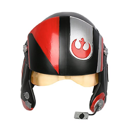 Poe Helm Cosplay Kostüm Erwachsene Herren Halloween Deluxe Pilot Kopf Harz X-wing Helm Fancy Dress Merchandise
