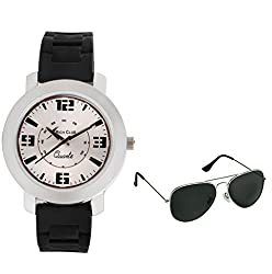Rich Club Siliconic~Stylish Analog Watch - For Boys, Men(With Black Aviator Sunglass Free)