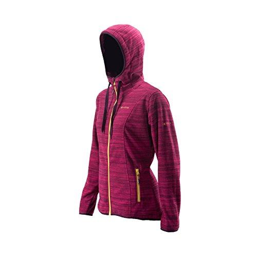 Viking Blenda felpa giacca in pile Donna Giacca Con Cappuccio Jogging Fitness, Rosa, XL