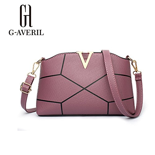 G-AVERIL, Borsa a mano donna Golden Rubber red