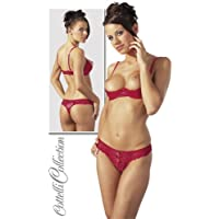 Cottelli Collection Soutien-gorge redresse-seins et string Rouge