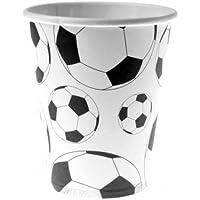 10 bicchieri di carta palloni calcio Taglia