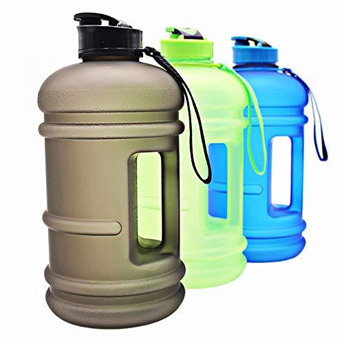 WJVCZ Botella Cristal Exfoliante 2.2L Bomba Agua Deportes