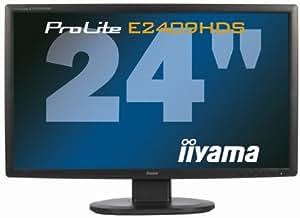 """iiyama ProLite E2409HDS-B1 24"""" Full HD TN+Film Noir écran plat de PC - écrans plats de PC (61 cm (24""""), 300 cd/m², 1920 x 1080 pixels, 2 ms, LCD, Full HD)"""