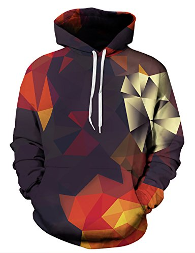 KamiraCoco Herren Kapuzenpullover 3D Druck Muster Hoodie Weihnachten Halloween Sweatshirt Pullover (XXL / XXXL, Dreidimensional)