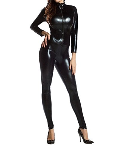 Unisex Fasching Ganzkörperanzug Erwachsene Ganzkoerper Fancy Anzug Halloween Kostüme Schwarz M