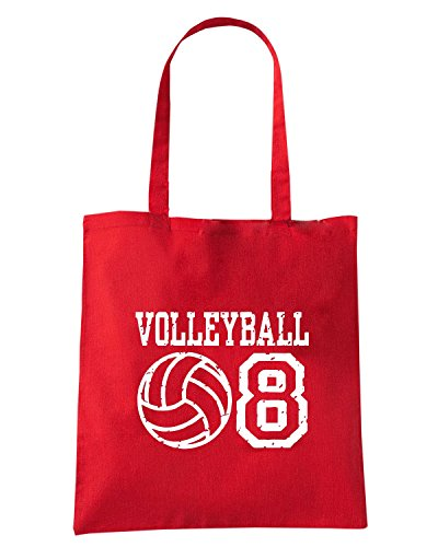 T-Shirtshock - Borsa Shopping OLDENG00787 volleyball 08 Rosso
