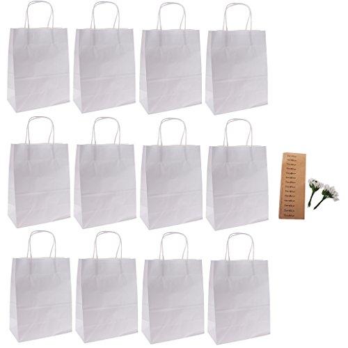 Preisvergleich Produktbild Gazechimp Papier Partytüten mit calla Blumen Dekor Set/12Pcs - Weiß