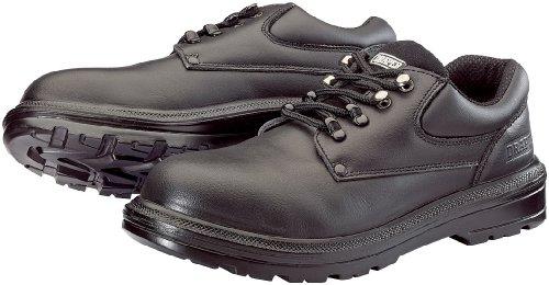 Draper 49466 Sicherheitsstiefel aus Leder, mit Zehenschutzkappe und durchtrittsicherer Sohle, Größe43, schwarz